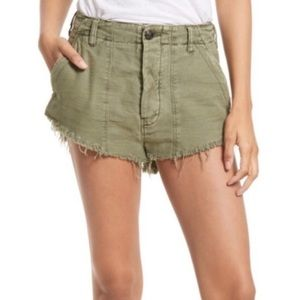 NWT Free People green high rise standoff shorts 8